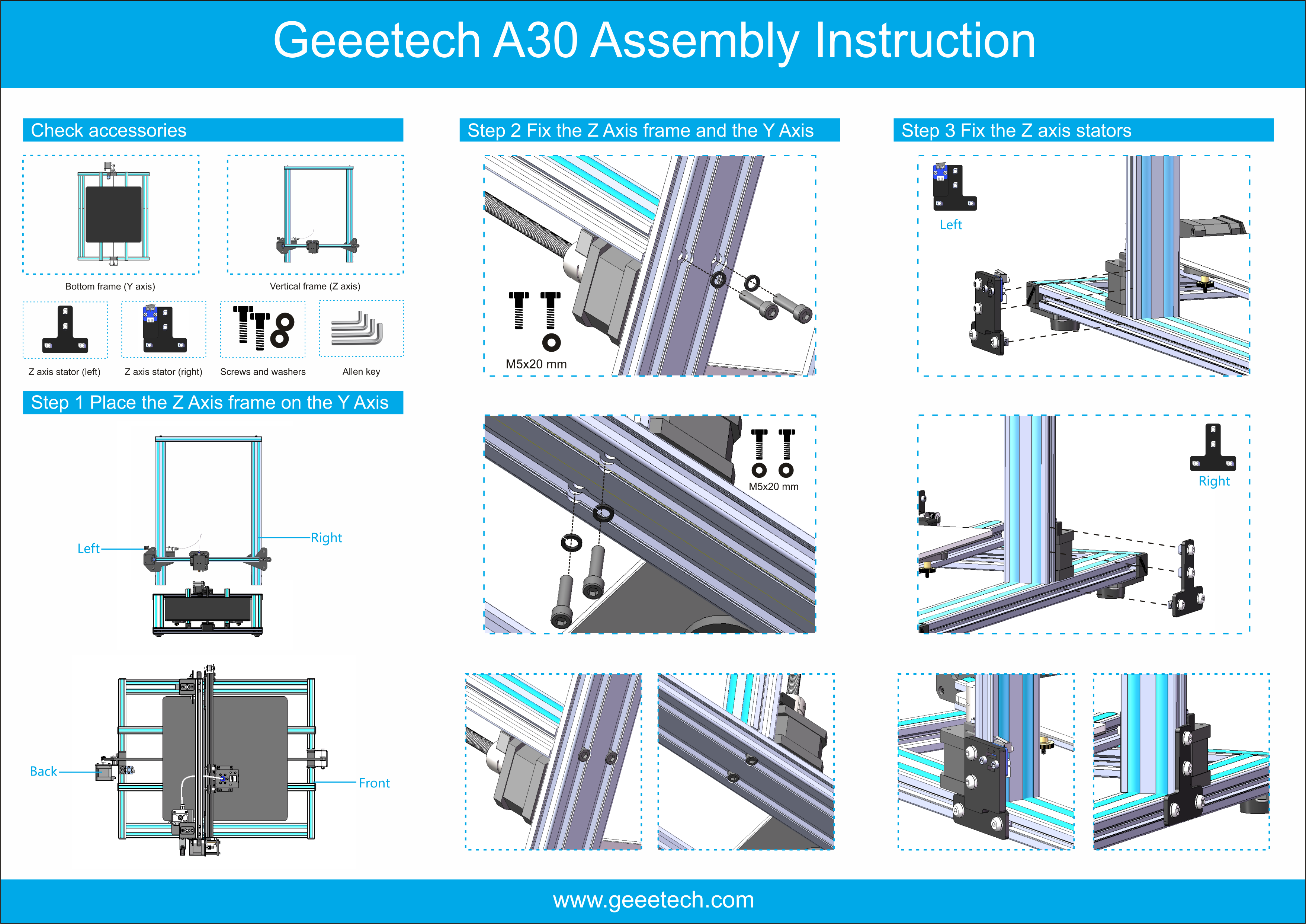 Geeetech A30 touch screen open source power resuming printer