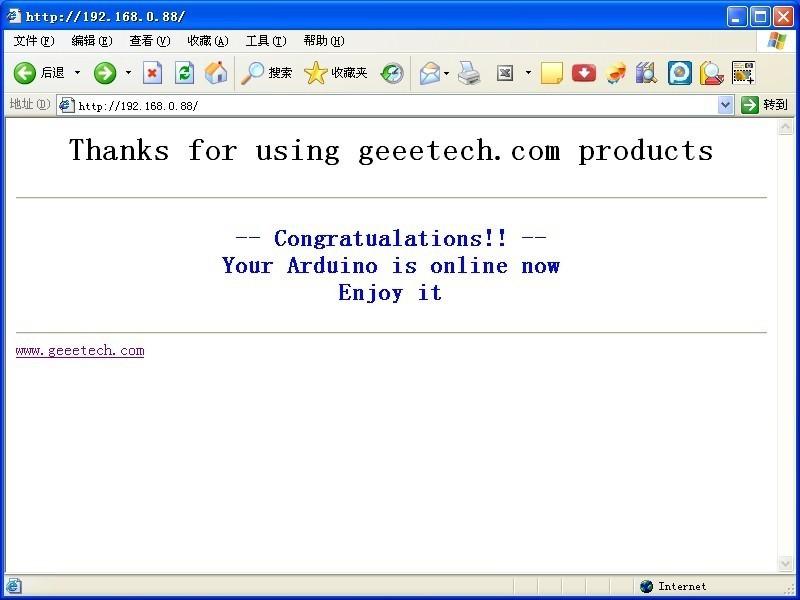 ENC28J60 Make Arduino be online – Geeetech Blog
