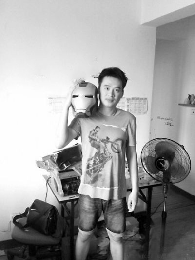 A 3D Fancier Made an Iron Man Helmet with a 3D Printer