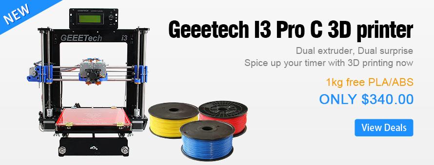 Introducing Geeetech Prusa I3 pro C Dual extruder 3d printer