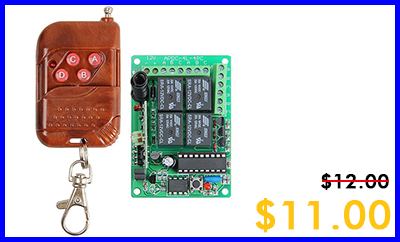 315Mhz RF 4 Channels Wireless Relay Remote Control Module-2015-6-2-Tuesday