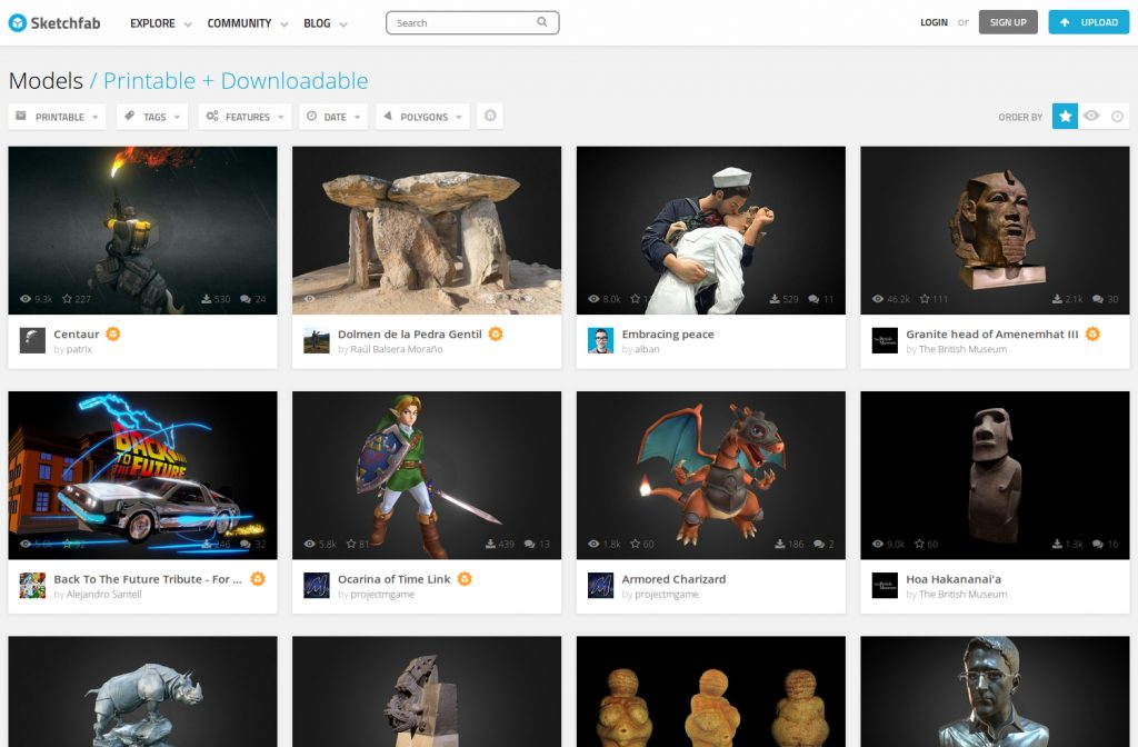 10 best free STL Files/3D Print Models Site you will need