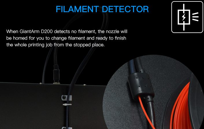 Filament DETECTOR OF GIANTARM D200 3D PRINTER