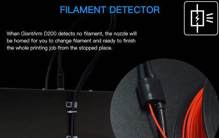 Introducing GiantArm D200 cloud 3D printer-part 5–Filament detector