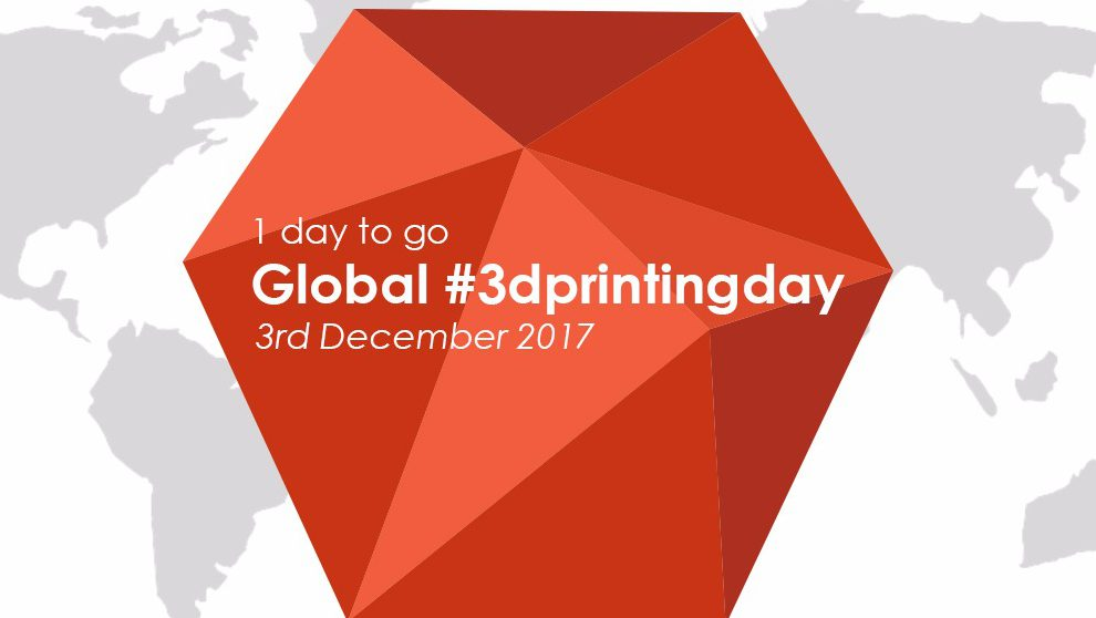 Run through your amazing ideas and make the best creative 3D Printable for the upcoming Global 3D Printing Day.