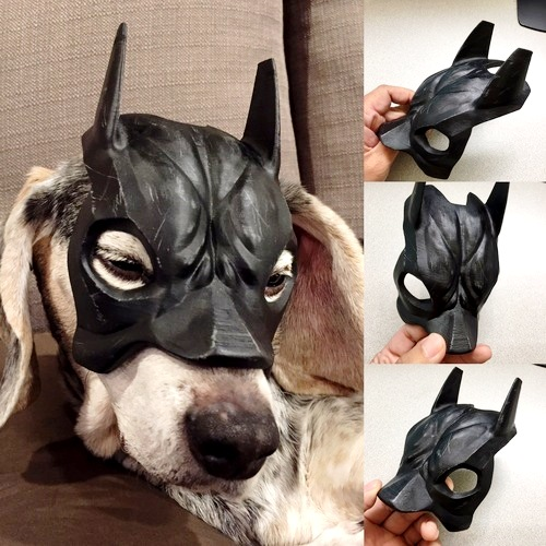 3D printed beagle mask for your pet dog.