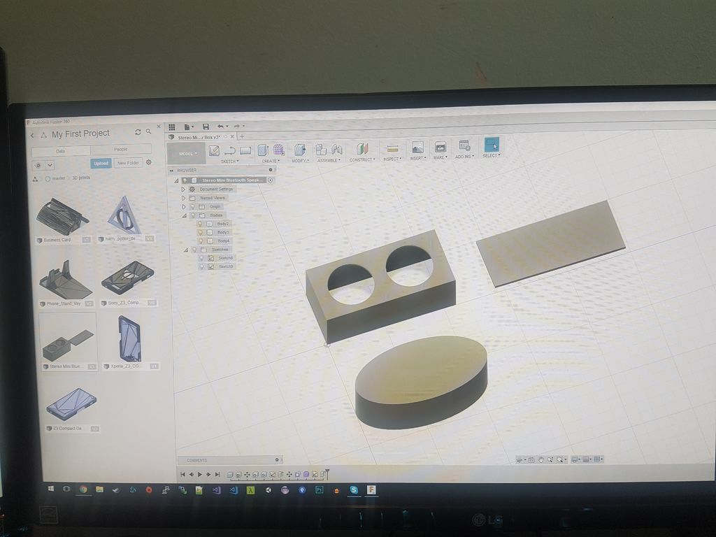 3D modeling bluetooth speakers in the software