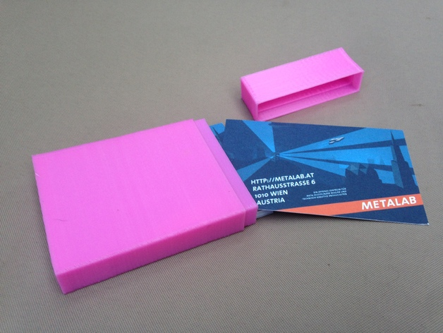 3D printed hack where visiting cards can be kept