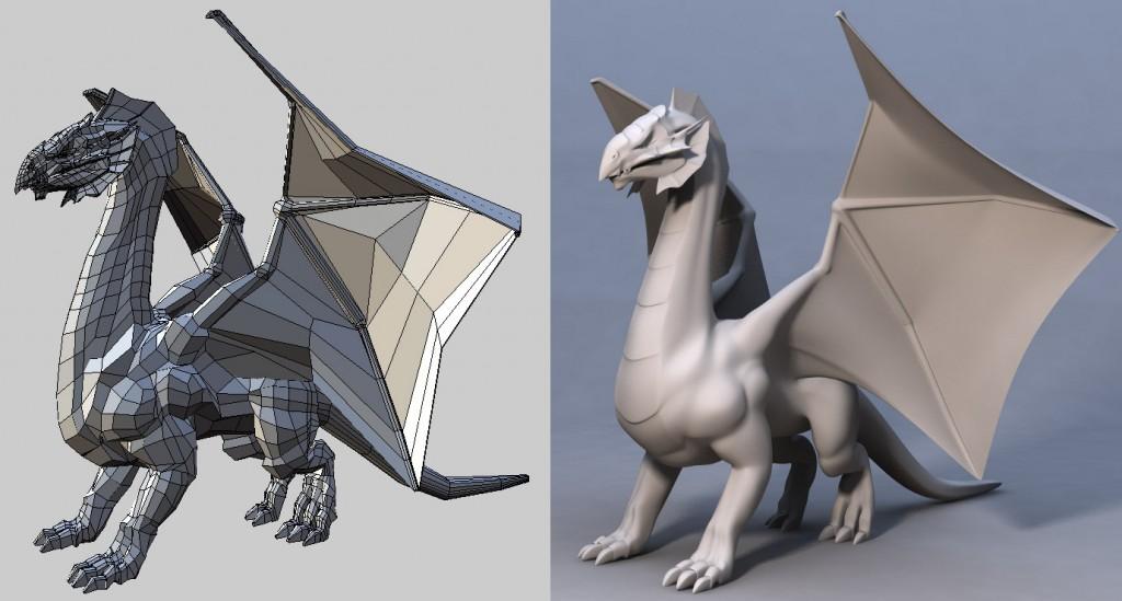 Image shows 3D model of dinosaur