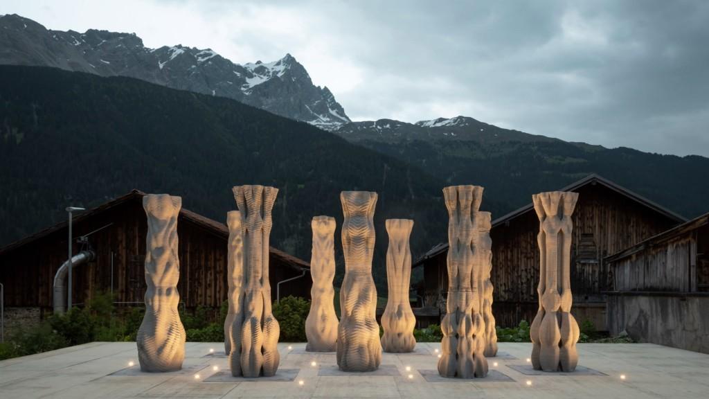 3D Printed Concrete Pillars – Origen Festival.