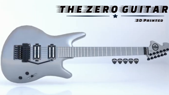 Awesome 3d printed zero guitars
