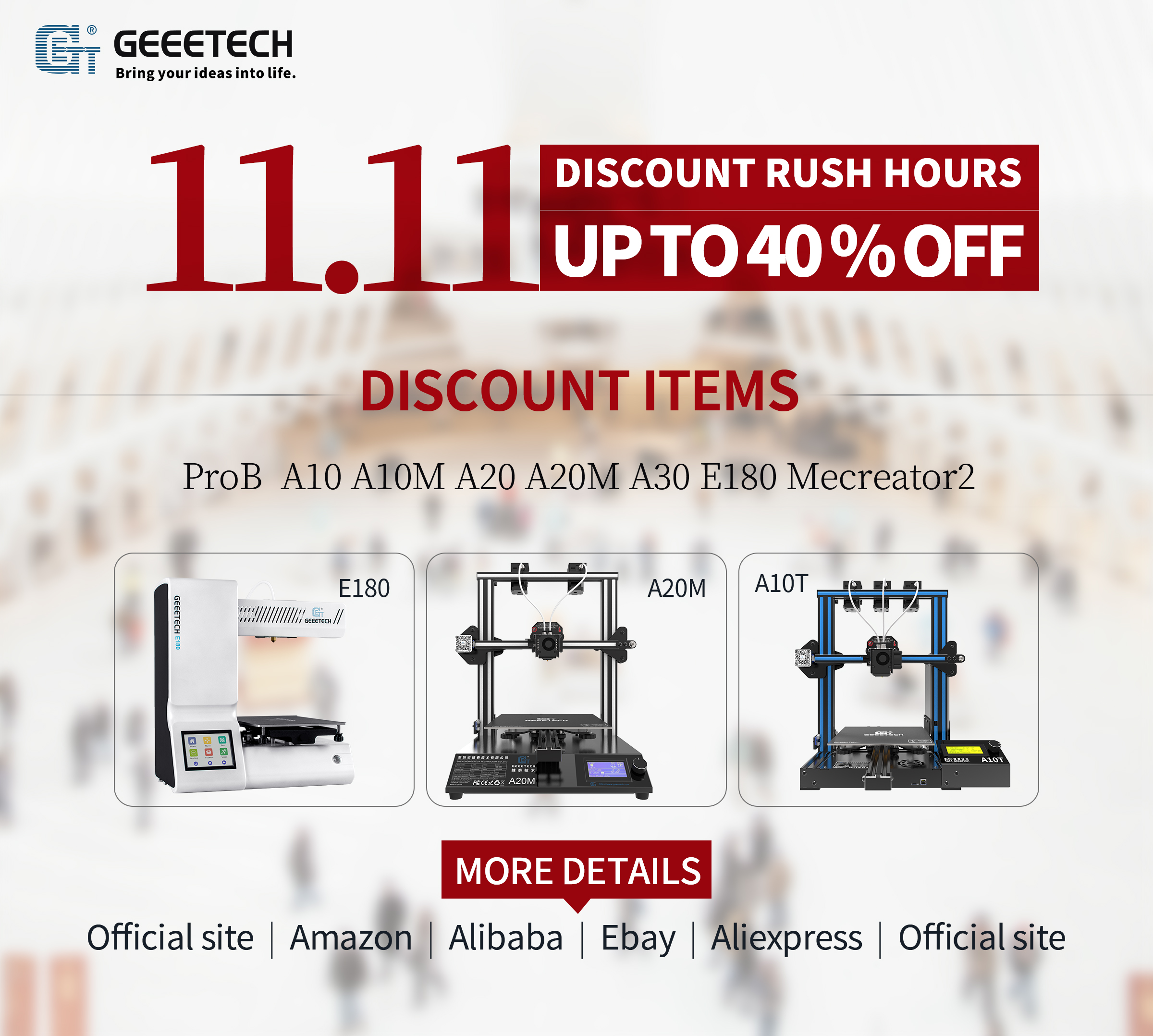 Geeetech- Double 11.11 Big Sale