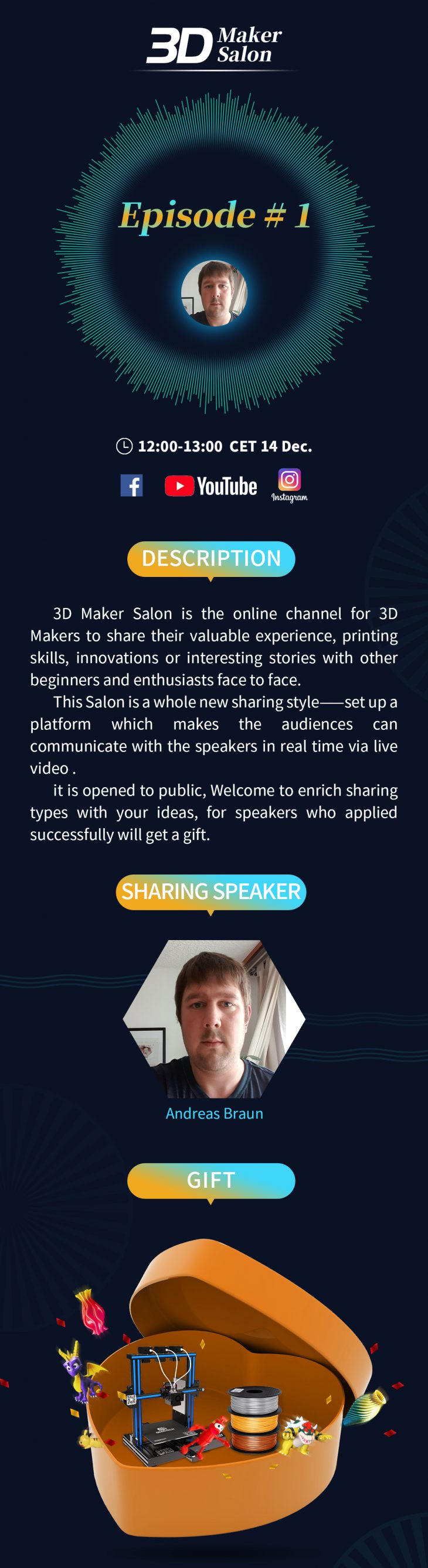 Episode 1 3D Maker Salon by Andreas Broun
