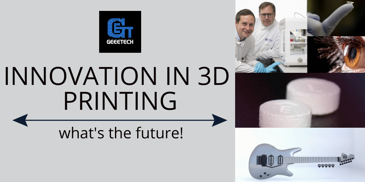 Some of the examples of advancements in 3D printing