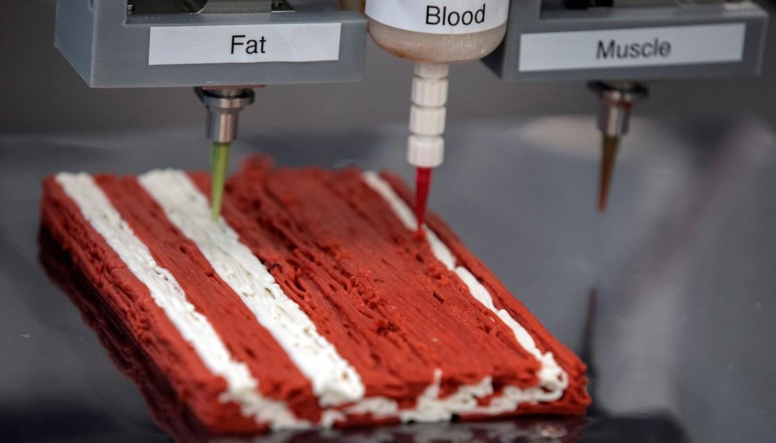 "Israeli Company Developing World's First 3D-Printed ""Steak"""