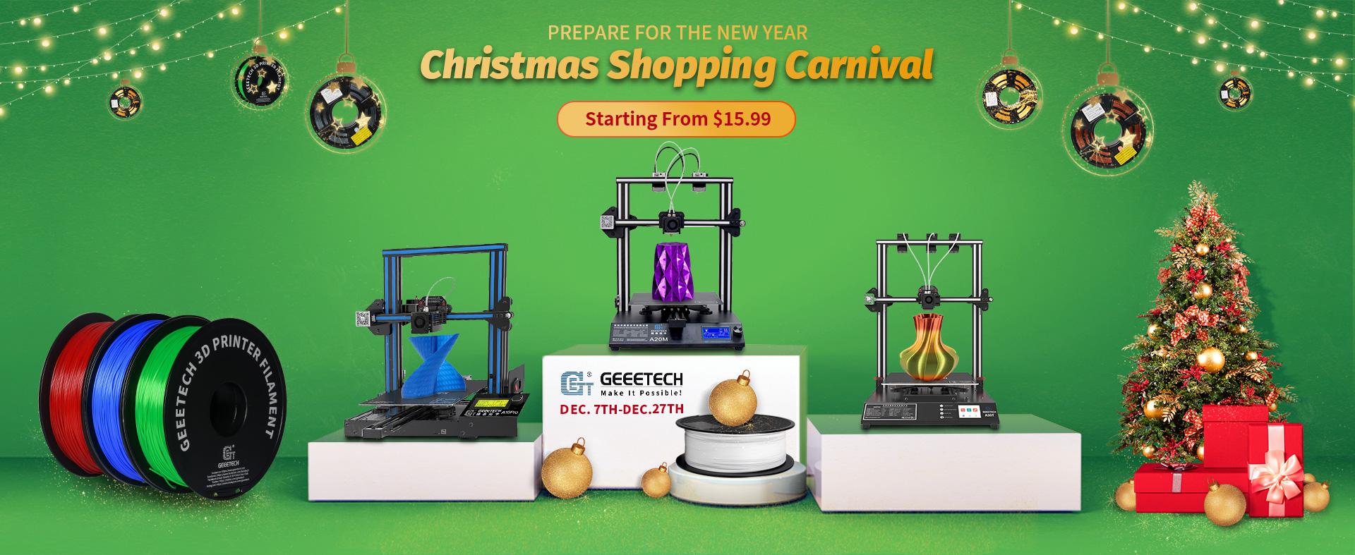 Geeetech's Christmas Shopping Carnival(Official web/Amazon/AliExpress)