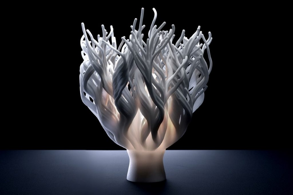 Watch These Bionic 3D -Printed Coral  Lamps