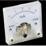 Analog Meter Panel  - 0 to 2A