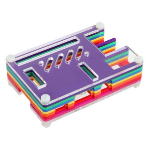 Newest Rainbow Pibow Enclosure for Raspberry Pi Model B+