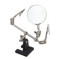 Clip-on magnifying glass