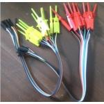 10pin E052 Logic Analyzer test clips/Hook Grabbers Test Probe-Bl