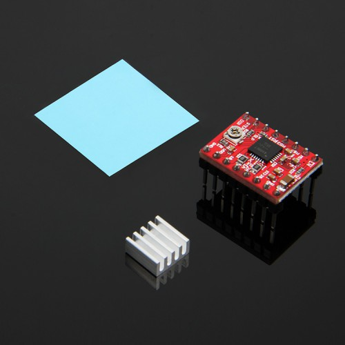 Stepper driver A4988 with heatsink and sticker