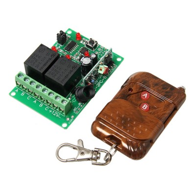 2 Channel RF Wireless Relay with Remote Control