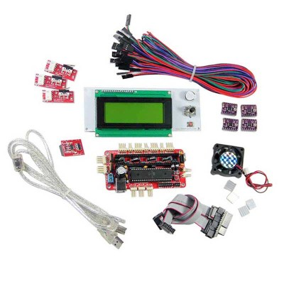 Kits-Sanguinololu+Smart controller+4-layer A4988+Endstop...