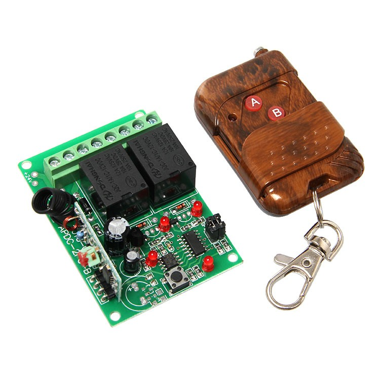 2 Channel Rf Wireless Relay With Remote Control 800 001