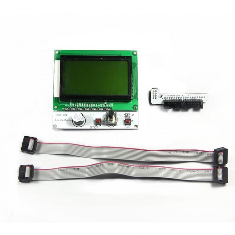 Reprap Smart controller LCD12864 Version (LED turn on