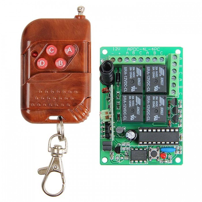 315mhz Rf 4 Channels Wireless Relay Remote Control Module