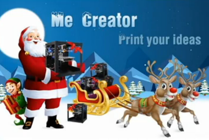 Me Creator 3D printer---Magic inside the Santa's bag