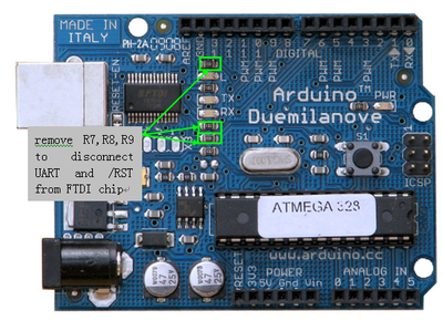 connect to Arduino Duemilanove/Diecimila