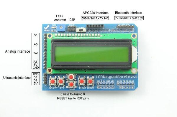 Arduino lcd keypad shield geeetech wiki